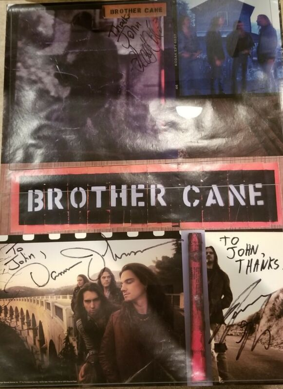 BROTHER CANE Rare 1993 PROMO POSTER for self title release signed