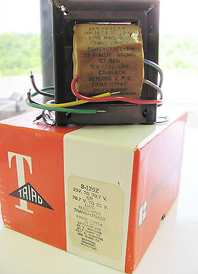 Triad S-129z 25v To 70.7v Or 70.7v To 25v Line Matching Transformer Nos In Box