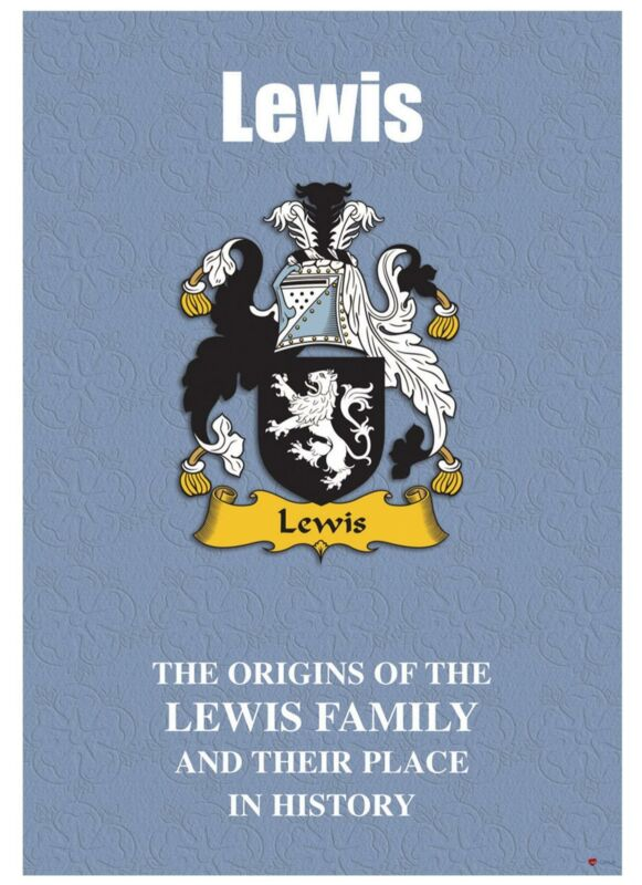 Lewis+English+Surname+History+Booklet+with+Historical+Facts+of+this+Famous+Name