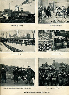Das Grubenunglück bei Courrieres -- Mit Bericht  - Zeitungsausschnitt 1906