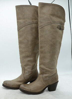 FRYE Jane Tall Cuff Womens Sz 5.5 High Heel Over the Knee Leather Riding Boots Jane Tall Cuff