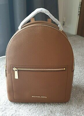 MICHAEL KORS Jessa Tan Brown Leather Backpack New Authentic 38H9CEVB8L last