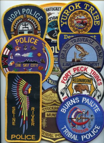 INDIAN TRIBE Patch Lot 10 Police Patches GROUP #B TRIBAL POLICE PATCH
