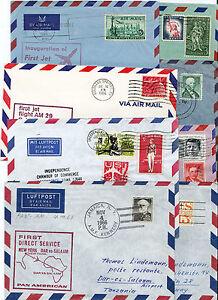 USA set of 8 air mail letters first & special flight 1965 - 1966 aerophilatelie - Altenmarkt-Thenneberg, Österreich - USA set of 8 air mail letters first & special flight 1965 - 1966 aerophilatelie - Altenmarkt-Thenneberg, Österreich