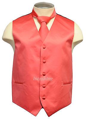 New Brand Q Formal Men's vest tuxedo waistcoat & necktie cor
