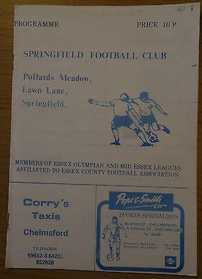 Springfield v Standards (Harlow) 80/1