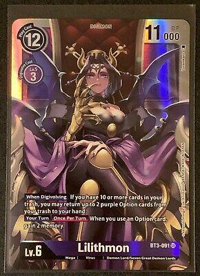 Lilithmon | BT3-091 SR | Purple | Special Booster VER.1.0 | Digimon TCG