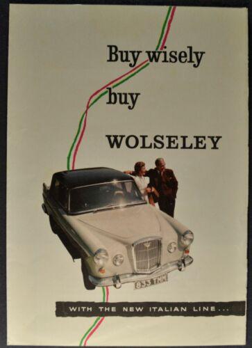 1960 Wolseley MG Riley Morris Mini Brochure Folder BMC Excellent Original 60