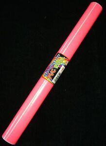BOOK-COVER-FILM-STICKY-BACK-SELF-ADHESIVE-PLASTIC-PVC-1-5m-x-45cm-NEON-PINK-PMS