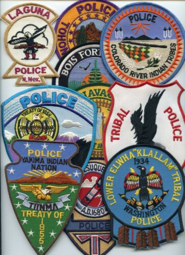INDIAN TRIBE Patch Lot 10 Police Patches GROUP #C TRIBAL POLICE PATCH