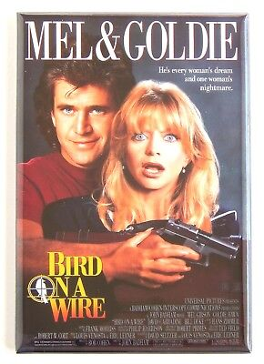 Bird on a Wire FRIDGE MAGNET (2 x 3 inches) movie poster