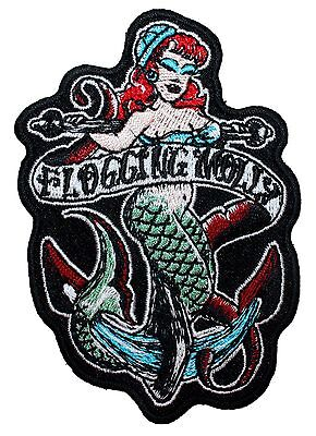 """Flogging Molly"" Sailor Mermaid Band Logo Punk Rock Music Iron On Applique Patch"