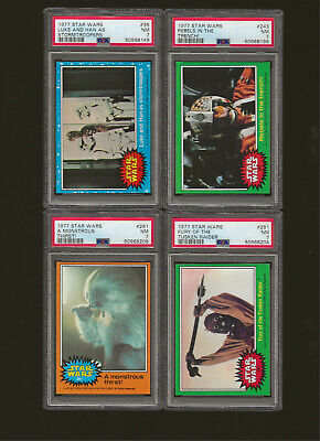 1977 STARS WARS (LOT OF 8) CARDS ALL GRADED PSA 7 NM  NICE LOT!!!