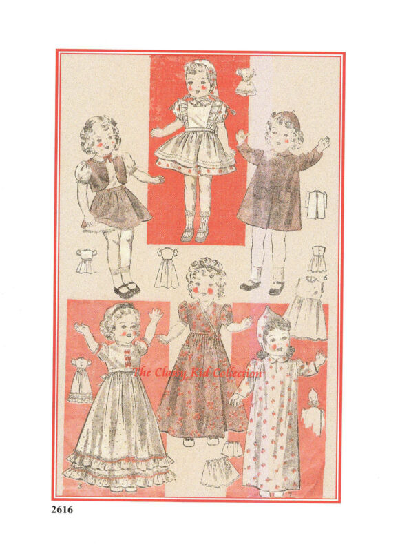 "14"" Pattern for Shirley Temple Doll   #2616"
