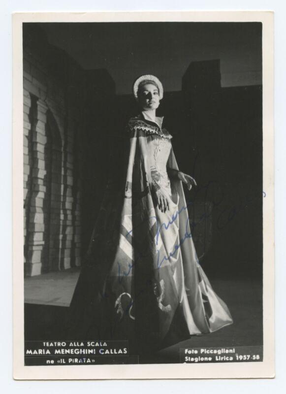 Maria CALLAS (Opera): Signed Photograph in Il Pirata