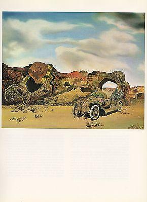 "1976 Vintage SALVADOR DALI ""PARANOIAC CRITICAL SOLITUDE"" COLOR Art Lithograph"