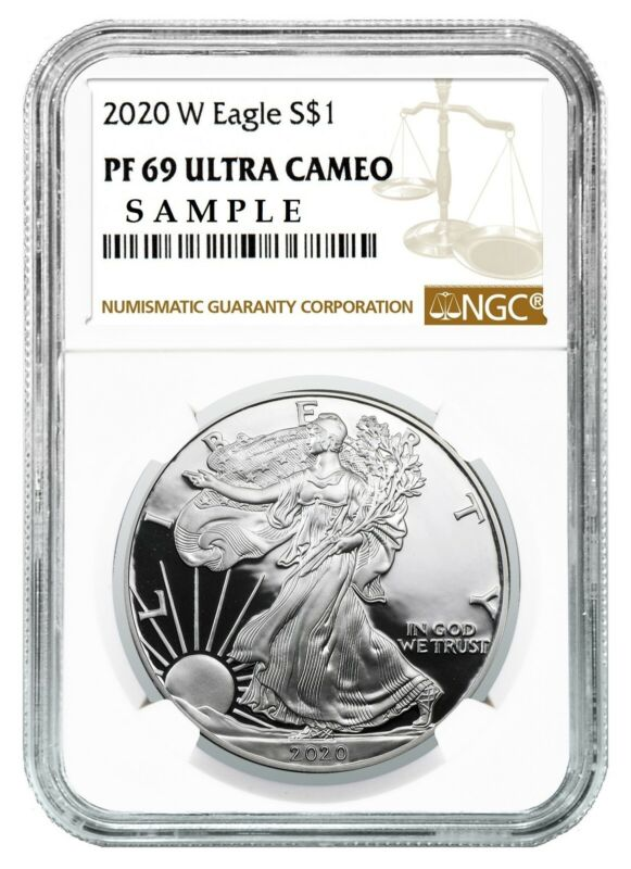 2020 W 1oz Silver Eagle Proof NGC PF69 Ultra Cameo Brown Label