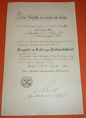Feldartillerie-Regiment König Karl Nr.13 Urkunde Kaiser Wilhelm II. Autograph