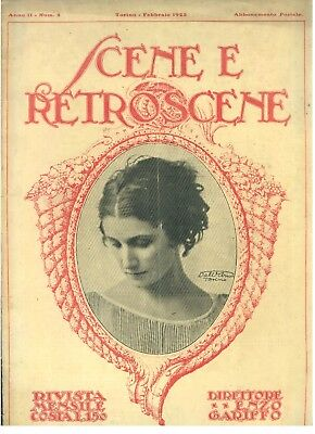 SCENE E RETROSCENE N 2 1923 ALESSANDRO DE STEFANI PAZZI SULLA MONTAGNA CARNEVALE