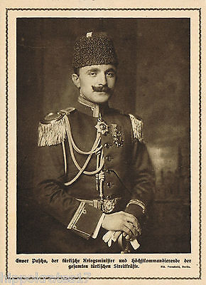 WW1, 1915, Enver Pascha Türkei Kriegsminister turkey secretary of war print (20)