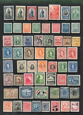 Stamps collection South & Central America. MH + 7 U