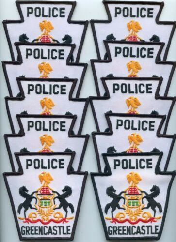 GREENCASTLE PENNSYLVANIA Patch Lot Trade Stock 10 Police Patches POLICE PATCH