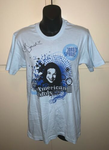 AMERICAN  IDOLS  LIVE TOUR  2007  JORDIN SPARKS HAND Signed T-Shirt +2 MORE Read