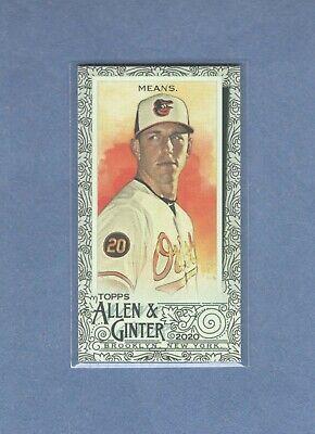 2020 Topps Allen & Ginter - Mini Black Border - #277 - John Means - Orioles