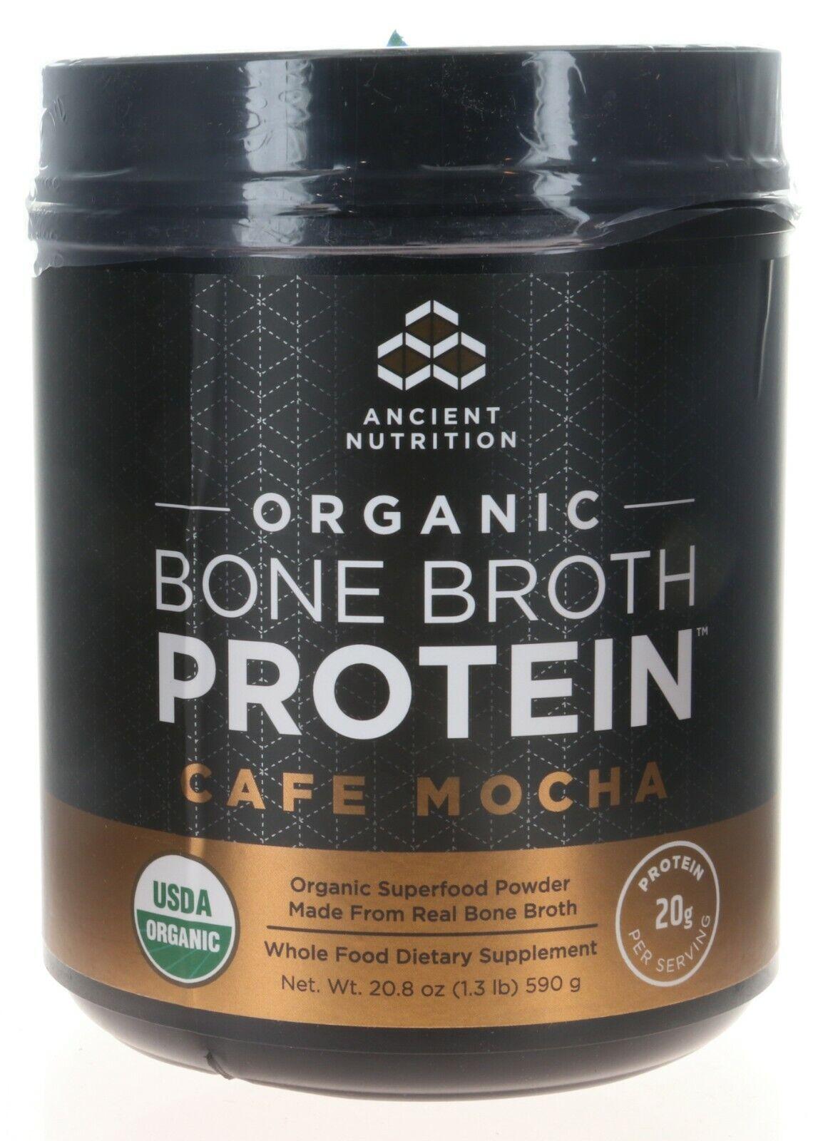 Bone Broth Protein, CAFE MOCHA, ORGANIC - Ancient Nutrition