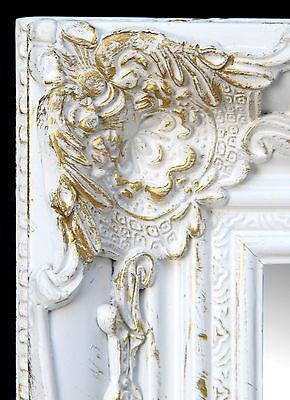 Wandspiegel Rechteckig weiss gold Flurspiegel Spiegel BAROCK Antik Repro Shabby