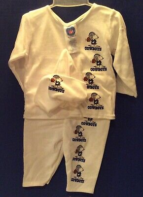 Dallas Cowboys Infant / Baby 3 Pc. Outfit with Snoopy 3-6 Mos. & 6-9 Mos. NEW](Dallas Cowboys Baby)