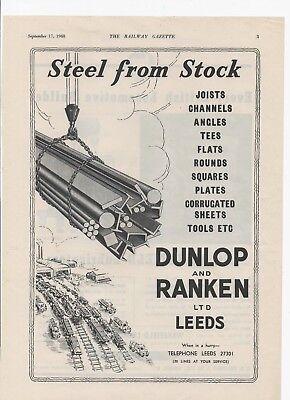 1948 Advert for DUNLOP & RANKEN (STEEL), LEEDS & Wakefield Lubricators