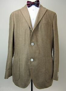 New Boglioli Italy unstructured silk blazer US 46R 3/2 roll working cuffs NWT