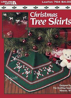 Christmas Tree Skirts ~ Tunisian & Classic crochet & knit pattern booklet NEW ()