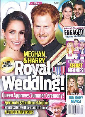 Prince Harry Meghan Markle Royal Wedding Selena Gomez Ok Ok  Magazine 5 15 17