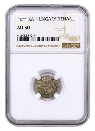Random Date 1450-1620 Hungary Silver Denar Madonna & Child NGC AU50 SKU44477