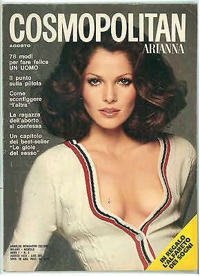 COSMOPOLITAN ARIANNA N. 5 AGOSTO 1973 COVER LOIS CHILDS FOTO FRANCESCO SCAVULLO