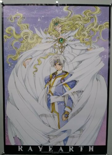 MAGIC KNIGHT RAYEARTH - A1 size Poster Rare CLAMP Style 05
