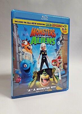 Monsters vs. Aliens Blu-ray Disc BOB's Big Break 3D Includes 4 Glasses 2009 Used - Bob Monsters Vs Aliens