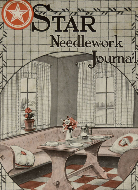 1923 Star Needlwork Journal Antique Sewing Magazine Early 1900s