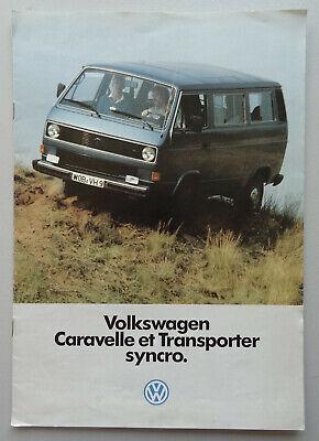 V17984 VOLKSWAGEN T3 TRANSPORTER & CARAVELLE SYNCRO - CATALOGUE - 01/85 - A4 -FR