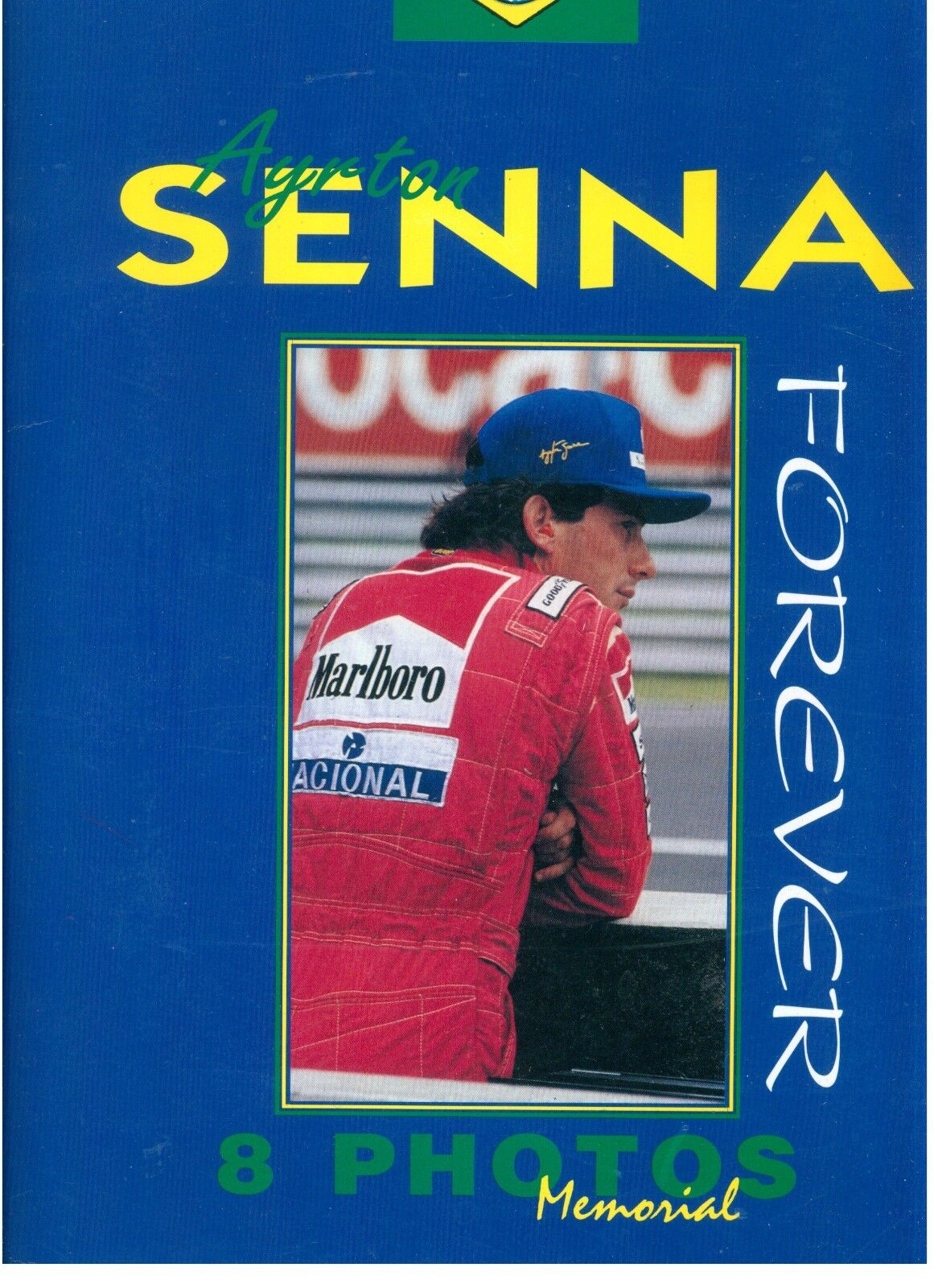 AYRTON SENNA FOREVER 8 PHOTOS MEMORIAL EUROPEAN BOOK SERIE LIMITATA ANNI '90
