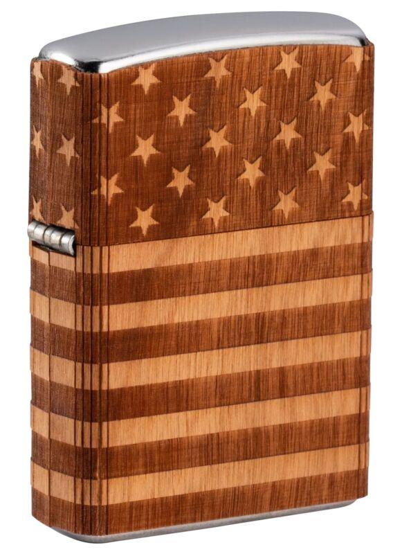 Zippo WOODCHUCK USA American Flag Wrap, 49332