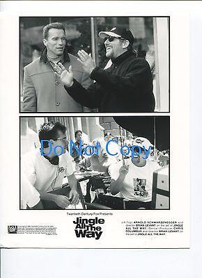 Arnold Schwarzenegger Brian Levant Chris Columbus Jingle All The Way Movie Photo