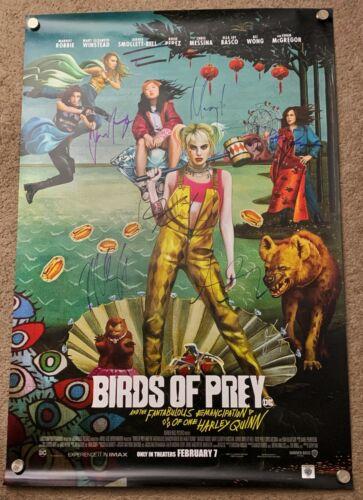 Birds of Prey DS Movie Poster CAST SIGNED Premiere Harley Quinn Batman DC Comics