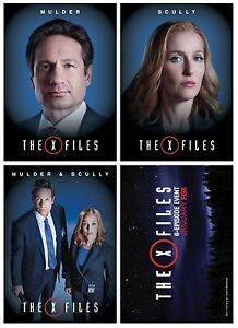 NEW PROMO X-Files Revival 3 cards Fox Mulder Dana Scully