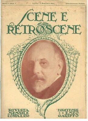 SCENE E RETROSCENE RIVISTA TEATRO NUMERO 1 1922 LUIGI PIRANDELLO LA MORSA RARA