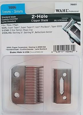 Wahl Professional  2 Hole Clipper Blade (1mm-3mm) #1006 ()