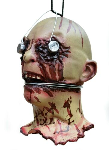 Scary Halloween Props Life Size Walking Dead Zombie Rotting Corpse Severed Head