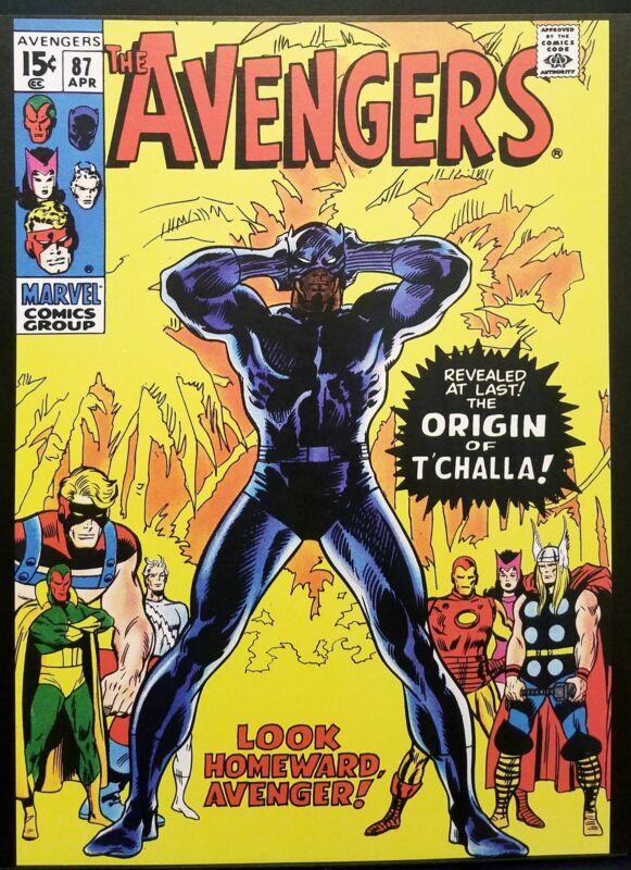 Avengers #87 w/ Black Panther 11x14 FRAMED Art Print, Vintage Marvel Comics